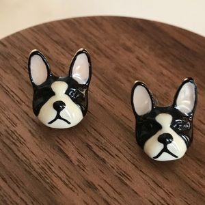 Betsey Johnson Boston Terrier Earrings